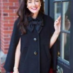 Kate Spade bow Capelet with pockets